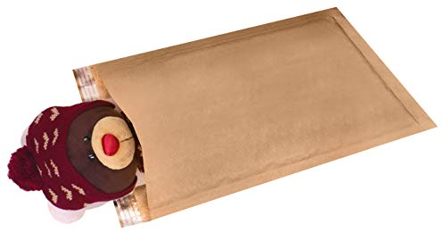 10 Pack Kraft padded envelopes 4x7. Bubble Mailers 4 x 7 Natural Kraft bubble envelopes. Peel and Seal. Brown cushion envelopes for mailing, packing and packaging. Shipping mailers in bulk, wholesale. Photo #2
