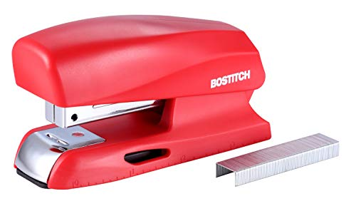 Bostitch Office 20 Sheet Stapler Small Stapler Size Fits into the Palm of Your Hand Red B150Red