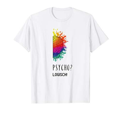 Psychologische Beratung Positive Psychologie   Gehirn Modell T-Shirt