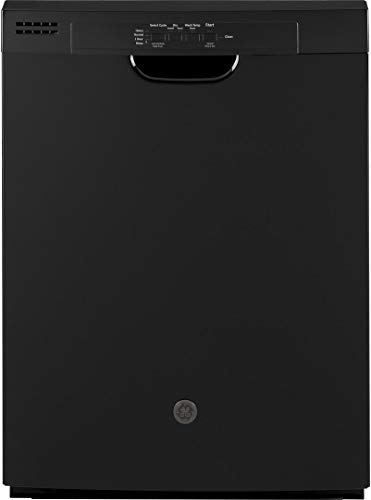 """GE GDF510PGMBB 24"""" Dishwasher with Front Controls 14 Place Settings Energy Star Certified Dry Boost Automatic Hot Start in Black"""
