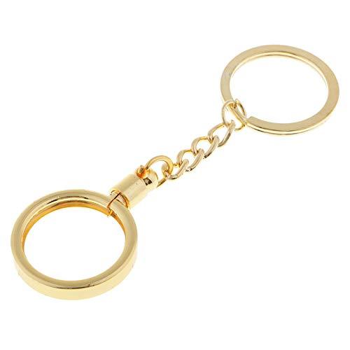 MWBLN Coin Holder Keychain Key Ring,Women Men Fans Souvenir Coin Gift Keyring,for DIY Key Chain 25mm Golden