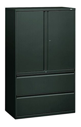 HON 895LSS 800 Series 42-Inch Storage Cabinet with 2-Drawer Lateral File, Charcoal