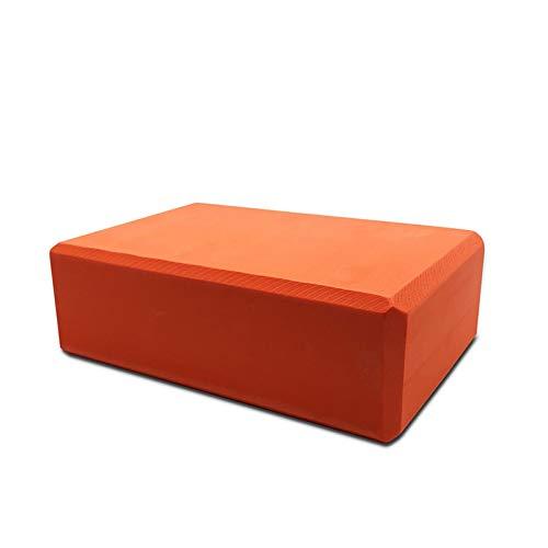 Double beau blocs de yoga 10Couleurs EVA Yoga Bloc de Brique 120g Sport Exercice Gym Mousse Exercice d'étirement Aide Corps Shaping Santé Ensembles de remise en forme, Orange