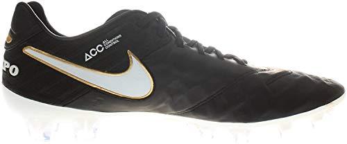 Nike Herren Tiempo Legend VI FG Fußballschuhe, Mehrfarbig Schwarz/Weiß (Black White Black MTLC VVD Gld), 38.5 EU