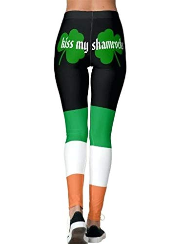 Gnpolo St Patricks Day Leggings for Women High Waisted Yoga Pants Workout Fitness Tummy Control Blouse