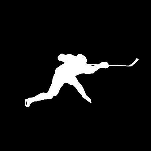KDEQT Auto-Aufkleber 16.1 * 7.6Cm Die Stilvollen Autoaufkleber Hockey Cartoon Muster Autoaufkleber Dekoratives Zubehör Schwarz/Silber