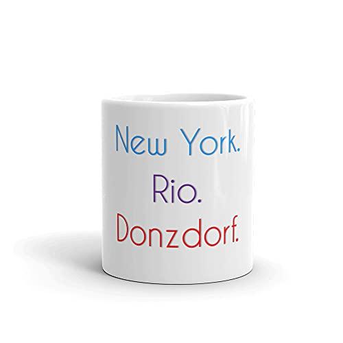 Donzdorf Becher | Tasse mit lustigem Spruch: New York. Rio. Donzdorf.