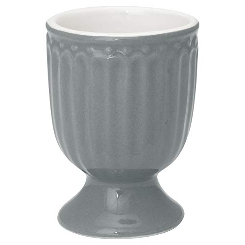 GreenGate Eierbecher Alice Grau 6,5 cm Keramik Everyday Geschirr Stone Grey