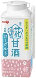 明治 糀甘酒のむヨーグルト180g×24本(クール便)