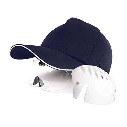 WXJ Safety Bump Cap Leichter Baseball Einteilige Schutzbrille PE Hochelastische Innenschale Elastischer Kinnriemen Führung Inspektion Mechanische Wartung Sonnenschutz Im Freien