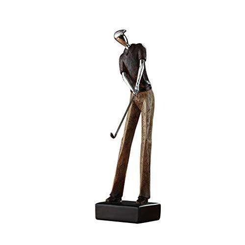 JIEYANG LSNtanyx Creativo Escultura de Golf Personaje Adorno Sala de Estar TV Gabinete Vinoteca Decoración Oficina Estantería Estantería Adorno