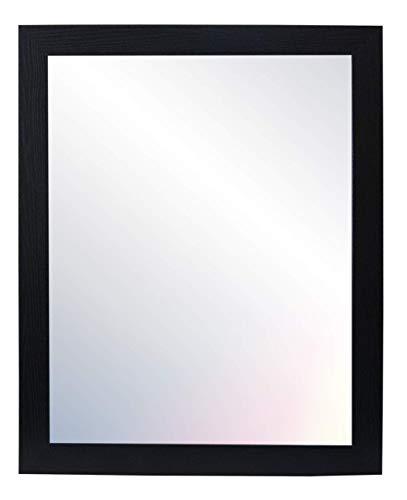 Chely Intermarket, Espejo de Pared Cuerpo Entero 60x80cm (Marco Exterior 67x87,5cm) (Negro) MOD-128 | Forma Rectangular | Decoración de salón, Dormitorio | Acabado Elegante (128-60x80-5,65)