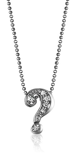 Alex Woo 'Little Letters' Diamond and 14k White Gold ? Pendant Necklace, 16'