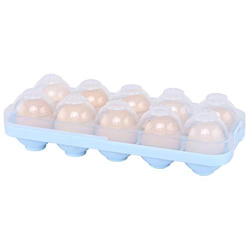 DUBENS Eierhalter Kühlschrank, Eierbehälter mit Deckel für 10 Eier Dose Box, rutschfest Praktische Eierbox aus Kunststoff, Eierdose Aufbewahrungsbox Transportbox Eieraufbewahrung (Transparent)