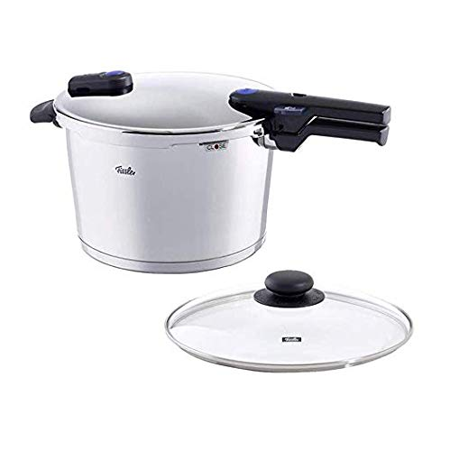 Fissler vitaquick , Pressure Cooker Set, 10.6 Quart, with Glass Lid, Stainless Steel, Cookware, Compatible with Induction, Gas, Electric Stovetops, Dishwasher Safe
