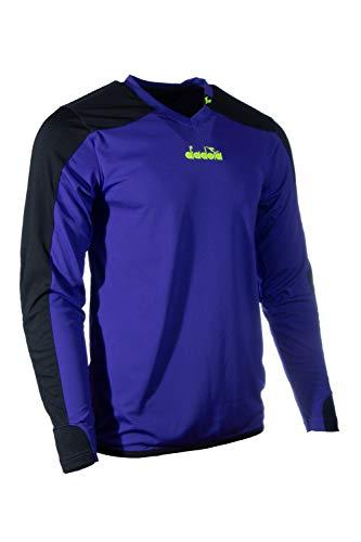 Diadora Kids Enzo Soccer Goalkeeper Jersey for Boys and Girls (Youth Medium, Purple)