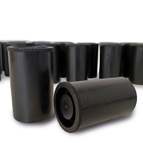 Lead Home Filmdosen (50 Stück, schwarz) aus Kunststoff, für Geocaching, basteln, Filmdosen, Kleinteile - Filmcanister, Canister