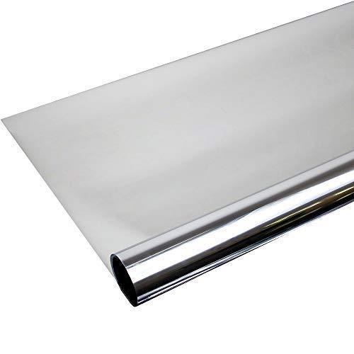 TipTopCarbon 6,57€/m² Fenster Spiegelfolie 200 x 152cm Silber Tönungsfolie Sonnenschutz Fensterfolie Spion Folie Hitzeschutzfolie