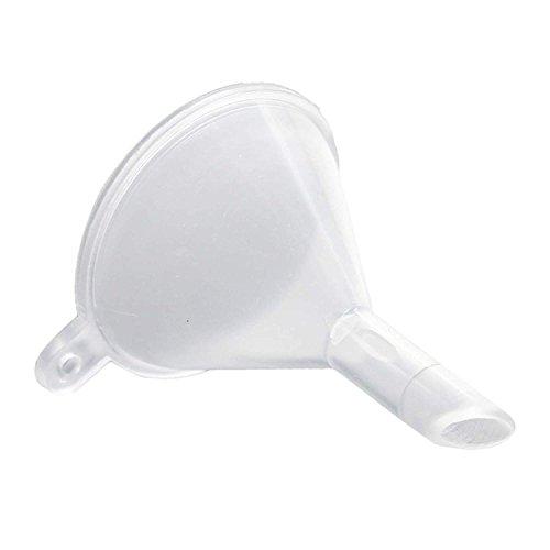 DDU 10 Stück Kunststoff Mini Trichter Für Füllung Von Kleinen Proben Parfum Flüssigkeit