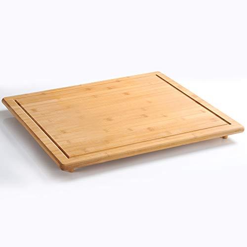 Kesper 58599 Tabla para Cortar y Protector, de bambú, 56 x 50 cm