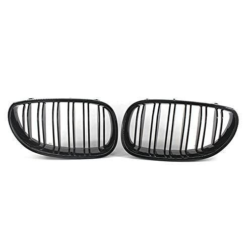 ZQCJDM Rejilla del riñón Delantero, 1 par de Estilo Negro Brillante Estilo de Carreras de Coches para 5 Series E60 E61 M5 2003-2010 Accesorios para automóviles,Gloss Black