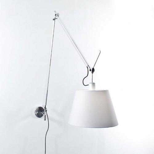 Artemide Tolomeo Mega Parete - Lampe satin, aluminium abat-jour satin Ø 32cm (on off)