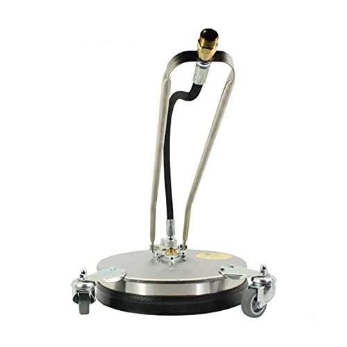 Contralmo CFR300 Profi Edelstahl Flächenreiniger | Pressure Washer | 150 Bar | mobiler Reinigung | Terassenreiniger | Steinreiniger | Betonreiniger | Universal-Reiniger | DIE Putzmaschine