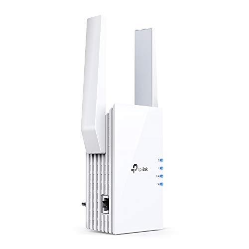 TP-Link RE605X Wi-Fi 6 AX1800 Dualband Gigabit WLAN Repeater (1200Mbit/s auf 5Ghz und 574Mbit/s auf 2.4GHz, OneMesh, Intelligente Signalanzeige, AP Modus,Tether App) weiß