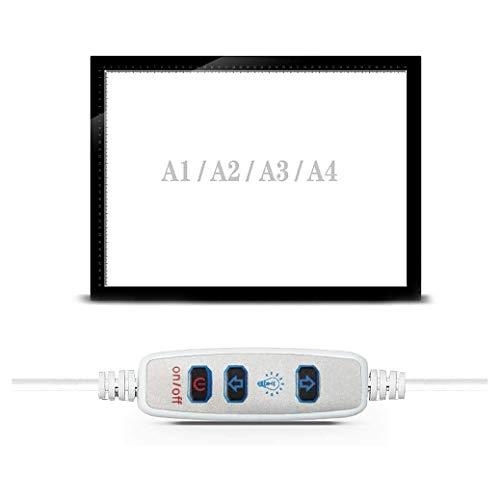 YYQQ Ultra-Delgado Portátil USB LED Trazador Artesanía Rastreo Pad Caja De Luz De Brillo Regulable para 5D DIY Diamante Artistas De Pintura Dibujo De Bocetos De Animación,A2