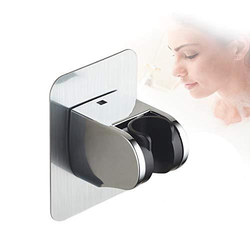 FansQ Handbrause, Verstellbarer Duschkopfrahmen, kein Stanzkleber erforderlich, Duschrahmen mit verstellbarem Winkel, Duschrahmen, gebürsteter Edelstahl