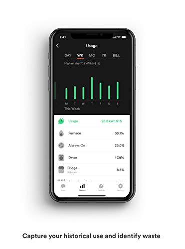 Sense Energy Monitor – Track Electricity Usage in Real Time and Save Money – Meets Rigorous...