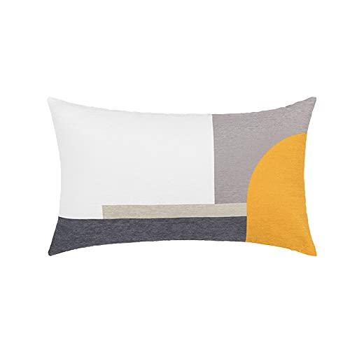 QMZ Fundas de Cojines Funda de cojín con Estampado de Chenilla de celosía geométrica a Rayas 1~2 Piezas (sin núcleo) decoración de sofá Minimalista Moderna