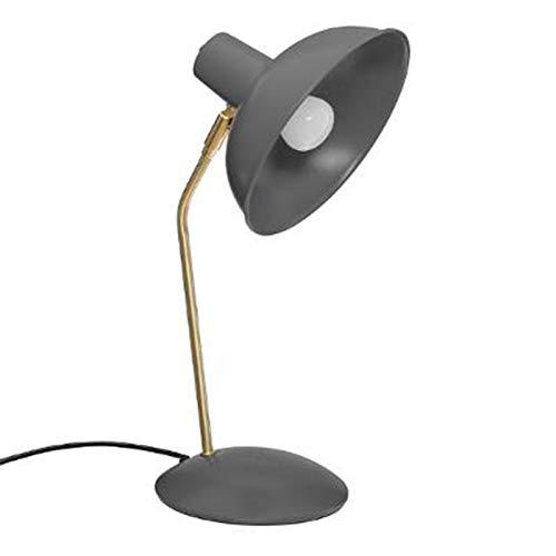 Paris Prix Atmosphera Créateur d'intérieur - Lampe à Poser en Métal Célia 38cm Gris