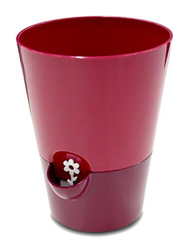 Preisvergleich Produktbild Emsa 514246 Kräutertopf für frische Kräuter,  Selbstbewässerung,  Wasserstandsanzeiger,  Ø 13 cm,  Pink,  Fresh Herbs
