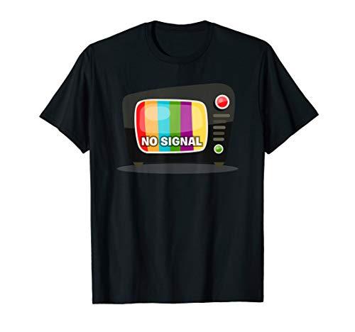 Kein Signalschwarz TV-Farbbalken Bildschirm Testmuster T-Shirt