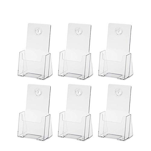 Premium Counter Top Trifold 4-Inch Wide Acrylic Brochure Holder