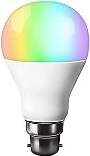 RGB LED Light Bulb Colour Changing B22 220-240V Bayonet Screw Base RGBW Mood Light Flood Light Bulb (Daylight White)