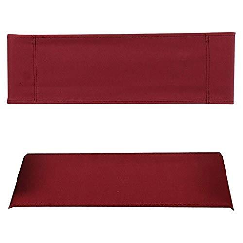 YTYZD Director Chair Ersatz Tuch-Abdeckung Leinwand Stuhl Lounge Chair Bezug Sitzlehne Cotton Canvas Hocker Schutz Seat 1 Set und Flat Stick2 (rot)