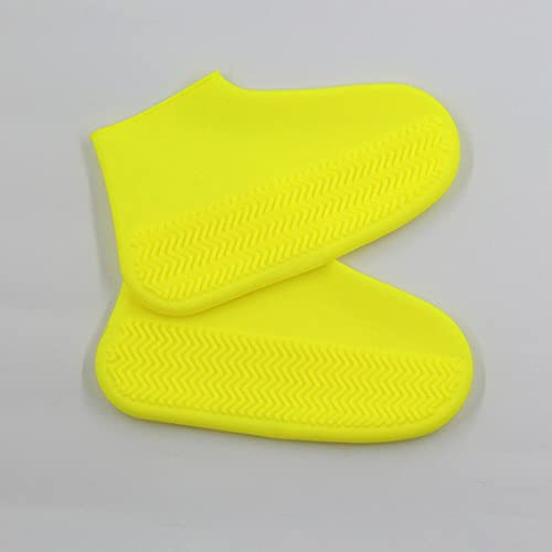 BE-STRONG Shoe Cover, Reusable Non-Slip Waterproof Boot Cover, Foldable Silicone Shoe Cover, Best for Protecting Your Shoes from Dust 2 Pairs Suitable for Children Ladies Men's Rain Boots,Yellow,S.