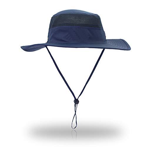 EONPOW Sonnenhut Herren Damen UV Schutz Sonnenschutz Kopf Faltbar Wanderhut Gartenhut Boonie Fischerhut, Blau, Einheitsgroesse
