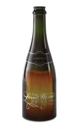 Pavilion Gift Company Wine All The Time 22042 Champagne Bottle Candle Holder, True Love, 10-3/4-Inch