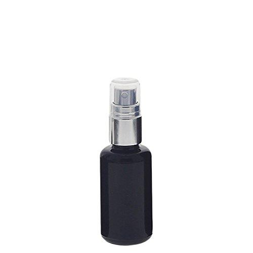 Violett Mironglas Sprühflasche, stark lichtschützend, Miron Glas-Flasche mit silber Pumpzerstäuber Kosmetex, Flakon, 30 ml