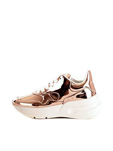 Alexander McQueen 586410W4K Sneakers Basse Donna Oro Rosa 35