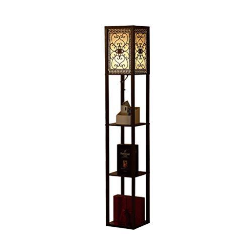 Shelf Floor Lamp-Modern Living Room Permanent Licht met Display Planken Slaapkamer LED Zacht Licht Verlichting Lamp-Home Storage Vertical Light DZE (Color : Black, Size : 26cm*26cm*160cm)