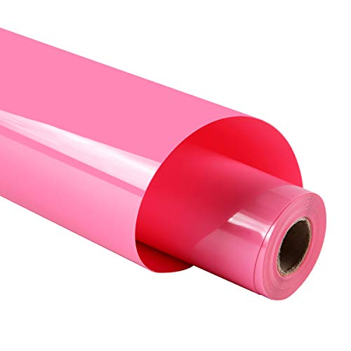 guangyintong Heat Transfer Vinyl for T-Shirts 12' x 8ft Roll Glossy (Pink K13)