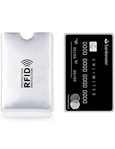 6 Envelopes Rfid Bloqueador Cartão De Crédito Contactless prata