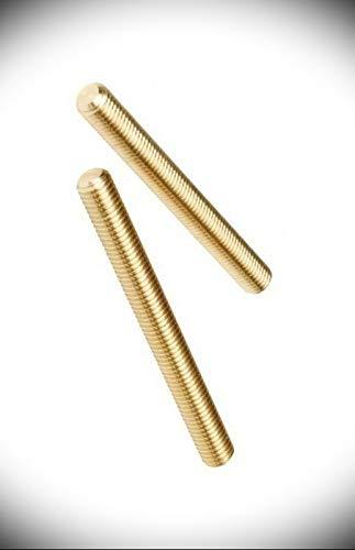 "Solid Brass All Thread Threaded Rod Bar Studs 3/8-16 x 6"""