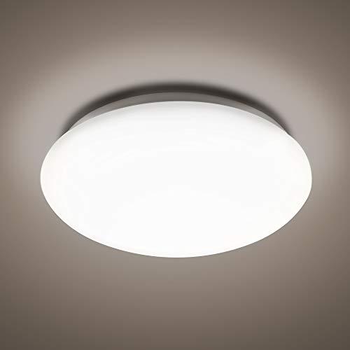 McLED 18W Lámpara de techo LED 4000K | Lámpara cenital color blanco neutro para sala de estar dormitorio baño pasillo Clase protección IP44 resistente al agua moderna 30.000h de vida útil Ø36cm