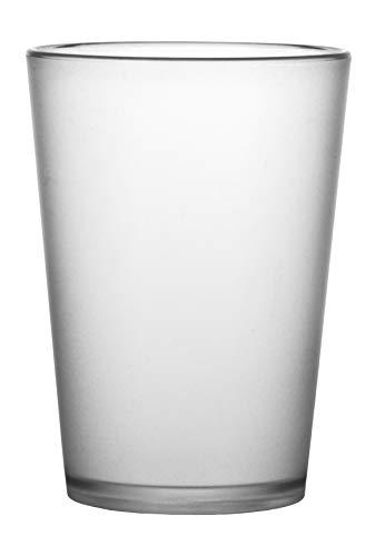 """Garnet Satinato Bicchiere Riutilizzabile """"Akua Set da 6 Pezzi – Lavabile in lavastoviglie-25 Bordo/ 20 cl a Servizio-Made in Italy, 0.25 Litri, Plastica"""