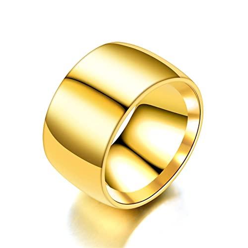 Personalità alla moda 12 millimetri di versione larga della sfera interna ed esterna anello di apertura personalità Dominante uomo Dominante dito titanio acciaio oro anello